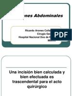 Incisiones Abdominales 2013.