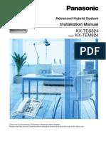 KX-TES 824 Installation Manual