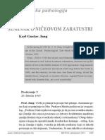 Karl Gustav Jung - Seminar o Ničeovom Zaratustri, Dio VI