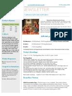 benefice news 21 december 2014