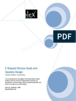 E Shaped Silicone Rubber Extruded Seals and Gaskets
