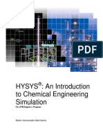 HYSYS - An Introduction to Chemical Engineering Simulation