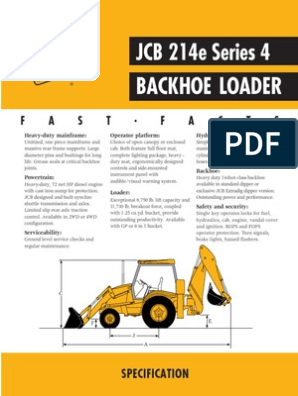 JCB 214E | Loader (Equipment) | Transmission (Mechanics)