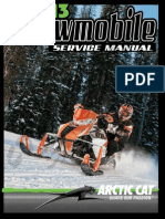 2013 Arctic Cat Snowmobile Service Manual