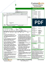 Excel 2011 Cheat Sheet