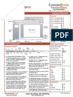 Powerpoint 2011 Mac Cheat Sheet