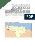 Tachira en El Mapa de Venezuela