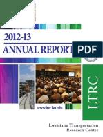 2012-2013 LTRC Annual Report