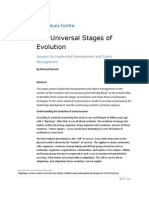 The Universal Stages of Evolution