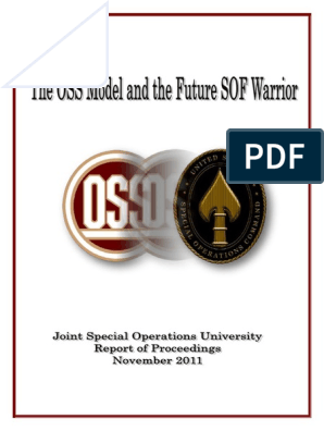 OSS model | United States Special Operations Command