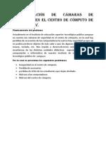 Implementación de Cámaras de Seguridad en El Centro de Cómputo de La i