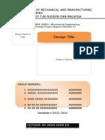 Binding Report Format