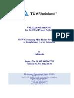 Final Validation Report_8MW Cirompang Mini Hydro Power Plant