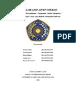 Bab 9 - Manajemen Persediaan (Economic Order Quantity)