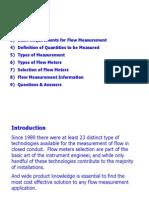 Basic Flow Measurement