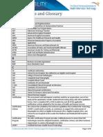 IO Acronyms and Glossary Basics