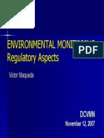 EEnvironmental Monitoring Regulatory Aspects