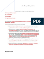 Case Study Analysis Guidelines