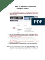 How to Upgrade TPas-LINK ADSL Modem Router (TrendChip Solution)