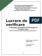 Lucrare de Verificare, Managementul Calități
