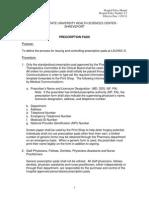 policy of prescription pad