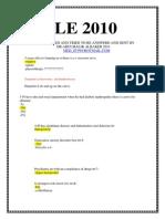 SLE 2010-7