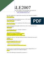 SLE 2007 -2