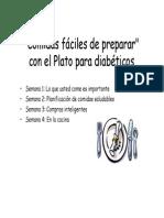 Comidas Fáciles de Preparar Con El Plato Para Diabeticos