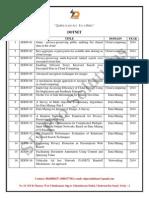 IEEE 2014-2015 Dot net-Titles