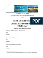 Project Proposal Guidelines