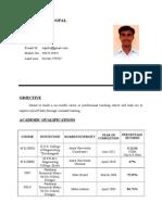 Nandhagopal Resume
