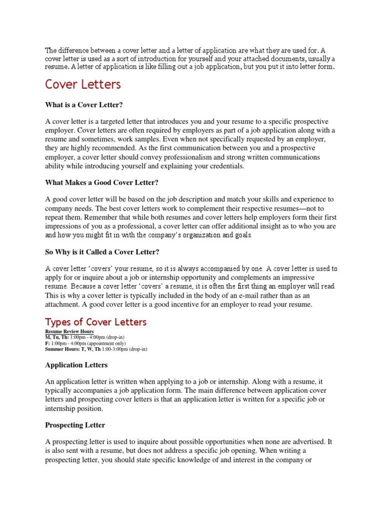 what is a cover letter used for sample resume for marketing manager the difference between a cover letter and a letter of application 1485244045 the difference between a