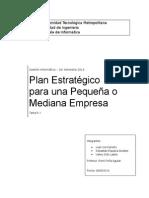 Plan Estrategico para una Pequeña o Mediana Empresa
