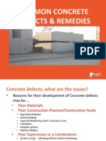 Common Concrete Defects- Training Presentation Draft