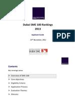SME 100 - Applicant Guide 2013
