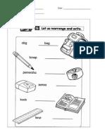 Anagrams Worksheet