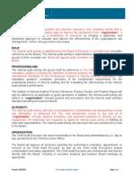 Model Internal Audit Activity