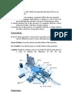 Power Station Equipment (Brief Description)