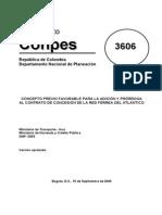Conpes 3606 Ampliacion Concesion Red Ferrea Atlantico