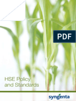 Syngenta HSE Policy and Standards
