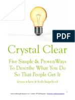 Crystal Clear Five Ways to Describe What You Do