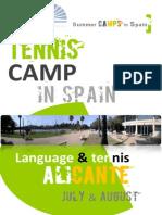 International Tennis Summer Camp Alicante ZadorSpain
