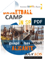 International Language and Basketball Camp Spain Alicante 2015