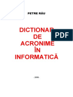 Dictionar de acronime in informatica