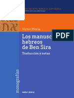 Los Manuscritos Hebreos de Ben Sira(1)