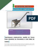 Diseño de tolva para granero con Poliamida y Fibra de Vidrio