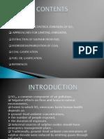 Control of Sulphur Oxides
