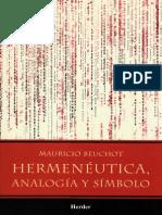 Beuchot - Hermeneutica Analogia Y Simbolo