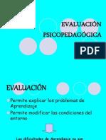 Evaluación Psicopedagógica i