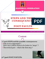 Lesson Steps-foot Faults